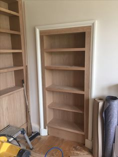 Building recessed cupboard shelving unit