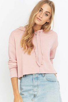 Urban Outfitters Cropped Zip Hoodie - Urban Outfitters