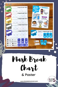 The MASK BREAK CHART edition features a visual break card that students can use to express how they are feeling and to request a break from wearing a mask. Use it to track the number of break requests being made throughout the day. There is also a poster that outlines a variety of reminders for having a mask off in school. Use this resource as a stand-alone product or combine with others in this series for a more robust set of visuals, posters, and printables.