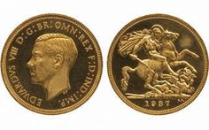 An Edward VIII Proof gold sovereign established a record price for a coin of the United Kingdom during a May 8 auction.