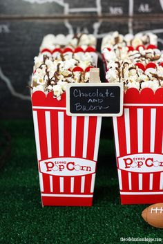 8 party ideas for the Big Game - bacon and chocolate popcorn #SuperBowl