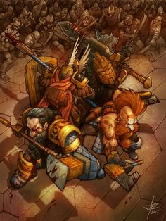 ArtStation - Last Stand of Khazad-Dum, Paolo Cagampan Fantasy Dwarf, Fantasy Warrior, Fantasy Rpg, Medieval Fantasy, Fantasy Artwork, Fantasy World, Fantasy Races, Dnd Characters, Fantasy Characters