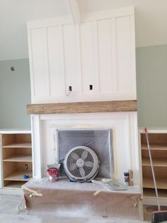 Board and Batten Fireplace