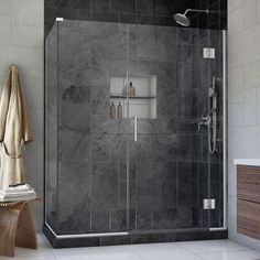 DreamLine Unidoor-X 45 in. x 34-3/8 in. x 72 in. Frameless Pivot Shower Enclosure in Chrome