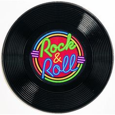 Rock n' Roll Plastic Record Decoration Grease Themed Parties, 50s Theme Parties, 70th Birthday Parties, 50th Party, Party Themes, Grease Party, Festa Rock Roll, Rock N Roll, Birthday Supplies