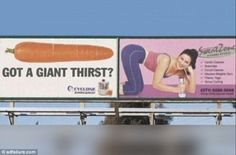 Ad Placement FAIL - Cindy, your billboard looks great! Advertising Fails, Bad Advertisements, Advertising Companies, Print Advertising, Creative Advertising, Funny Ads, Funny Signs, Funny Sarcastic, Funny Jokes