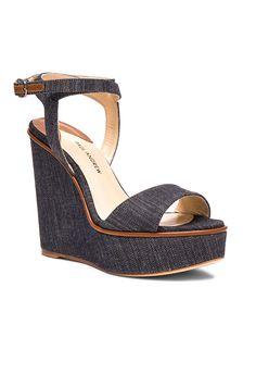 886e53a70b11 PAUL ANDREW DENIM LAURA WEDGES Shoes Heels Wedges
