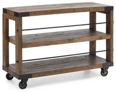 47 in. Dining Server in Distressed Natural Fi - industrial - Kitchen Islands And Kitchen Carts - ivgStores