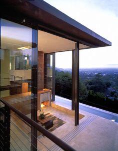22' high sliding glass doors //// Brooks + Scarpa | Redelco Residence | Los Angeles, CA