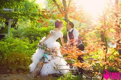 Tandem BIKES!!! Shot by True Love Photo, Our Wedding Magazine...only at the Coloma Country Inn.