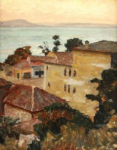 "PETRE CHIREA - ""MOSCHEE LA BALCIC"" Art Database, Paintings I Love, City Art, Impressionism, My Arts, Gallery, Artwork, Bucharest, Romania"