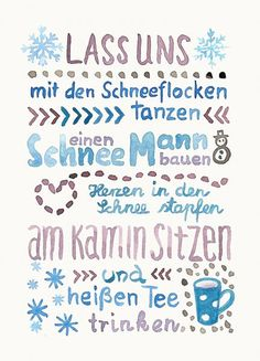 """Convincingly Show Your Children Santa Has Visited Karte """"Lass uns Winter machen""""Karte """"Lass uns Winter machen"""" Holiday Quotes Christmas, Christmas Jokes For Kids, Christmas And New Year, Winter Christmas, Brush Lettering, Hand Lettering, Art Quotes, Quote Art, Graphic Quotes"""