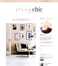 This Blogger template is simply gorgeous. With a beautiful chic style to it, this blog theme is perfect for anybody who loves a girly but cool