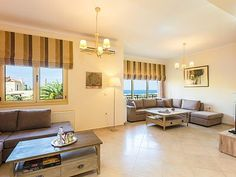 Rethymno villa rental - Spacious sitting area for the whole family!