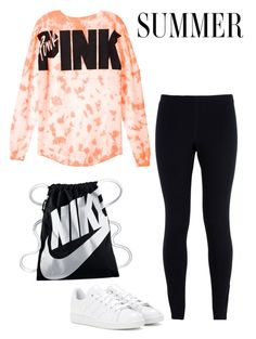"""Yao Ming"" by nazarethperezstar ❤ liked on Polyvore featuring NIKE and adidas"