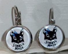 Ohrringe - Ohrringe Katze Damen Ohrschmuck Modeschmuck Glas - ein Designerstück von ausgefallene-Ohrringe bei DaWanda