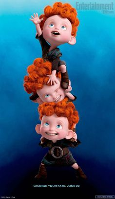 """Four New Character Posters For Pixar's """"Brave."""" Opens June 22, 2012."""
