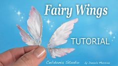 tutorial: miniature fairy wings from fabric