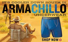 Cool your jewels with Armachillo Underwear. Wicking, lightweight, and actually feels cool to the touch!