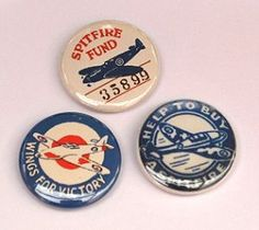 Wings Fund Badge Reproduction of a vintage fund raising Badge 4 different designs to choose from each one about the size of a pound coin Modern pin The Blitz, Postwar, Battle Of Britain, December 7, Historical Images, Apple Tree, Pin Badges, Vintage Images, Ww2