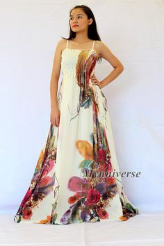 Plus SIze Maxi Dress Wedding Gown Ivory Bridesmaid Dress Prom Summer Sundress Floral Evening Dress Ivory Bridesmaid Dresses, Maxi Dress Wedding, Wedding Gowns, Dress Prom, Floral Evening Dresses, Floral Sundress, Formal Dresses, Plus Size Maxi Dresses, Dresses For Teens