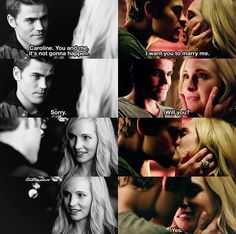 Steroline. Season 1 and season 8 Hell yeah, it happened! It's going to be the June wedding!!!