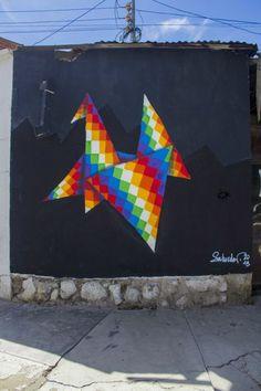 Urban Art Biennial (BAU) - In Cochabamba, Bolivia - Street Art Utopia Group Art Projects, Animal Art Projects, Cool Art Projects, Street Art Utopia, Street Art Graffiti, Graffiti Murals, Yarn Bombing, Famous Pop Art, Art Nouveau Poster