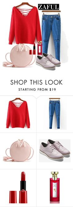 """""""Untitled #244"""" by aazraa ❤ liked on Polyvore featuring Cole Haan, Giorgio Armani and Bulgari"""