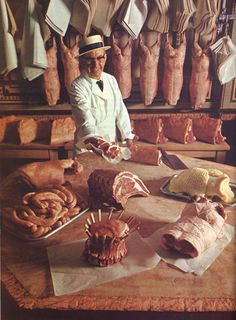 1960s Butcher's shop....wish these were still around, your choices in cuts of meat were far greater and the flavor was often better than today.