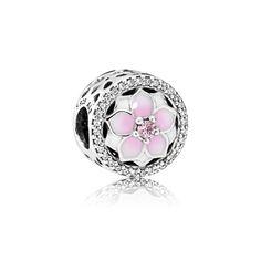 PANDORA | Magnolia Bloom, Pale Cerise Enamel & Pink CZ