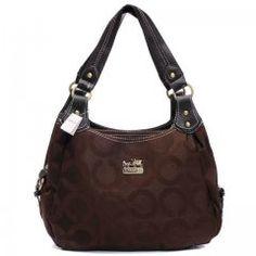 Coach Logo Signature Medium Coffee Hobo BTX - Another! Coach Handbags Outlet, Coach Outlet, Coach Purses, Cheap Designer Handbags, Cheap Handbags, Purses And Handbags, Designer Purses, Sofa Outlet, Cheap Coach Bags