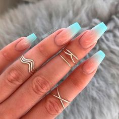 Summer nail designs can boost your mood instantly. Just check them out and you'll agree! summer nails 79 Summer Nail Color Designs For Acrylic Glitter Gel Nails Nail Design Glitter, Glitter Gel Nails, Ombre Nail Designs, Colorful Nail Designs, Coffin Ombre Nails, Blue Ombre Nails, How To Ombre Nails, Ombre Nail Art, Ombre French Nails