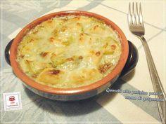 Gnocchi+alla+parigina+con+porri+e+salsa+al+gorgonzola