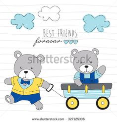 Stock Images similar to ID 219135346 - sweet dreams bunny and bear...