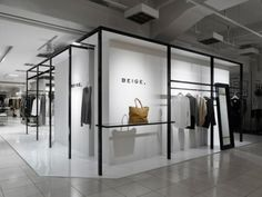 Beige retail: interesting wall solution.