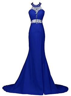 Dresstells® Long Mermaid Prom Dress Beadings Halter Evening Gowns with Slit Dresstells http://www.amazon.co.uk/dp/B01C780GL0/ref=cm_sw_r_pi_dp_Wdj9wb1HYJMN