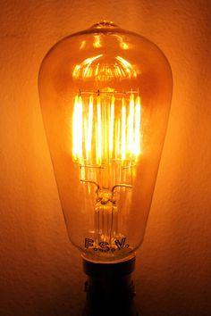 LED Bulbs - Edison Teardrop Smoked