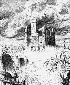 The House on Gryphon Hill. (Jeff Easley, AD&D module I10: Ravenloft II, TSR, 1986.)