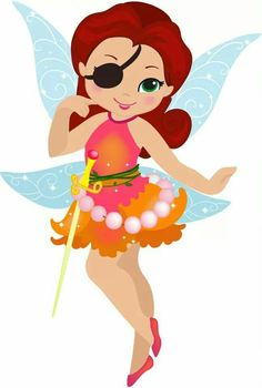 Rosetta The Pirate Fairy Tinkerbell Party, Tinkerbell And Friends, Pirate Fairy Party, Fairy Birthday Party, Felt Dolls, Paper Dolls, Fairy Invitations, Fairy Wallpaper, Owl Classroom
