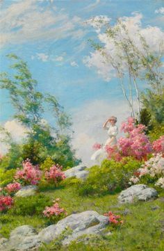 Charles Courtney Curran (1861-1942) — May Morning (800x1225)