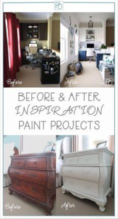 Helping you decide when to paint a piece of furniture or cabinetry. Inspirational before and after pictures of paint projects including furniture, cabinetry, and walls. Paint Furniture, Cheap Furniture, Furniture Projects, Furniture Making, Furniture Makeover, Furniture Board, Building Furniture, Refinished Furniture, Furniture Refinishing