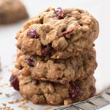 Oatmeal and Flax Cranberry Cookies   (I will be adding dark chocolate chips)