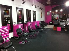 I like the tool boxes but would go with a different style salon