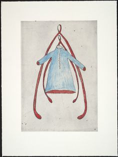 Louise Bourgeois. Double Wishbone and Dress, state III, variant. (1999)