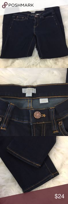 J Crew Skinny Jeans Skinny Stretch Jeans Dark blue some fading from washing at seams J. Crew Jeans Skinny