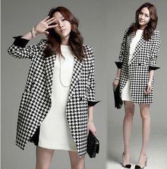 Women Autumn Winter Fashion Cardigan Wool Blends Outerwear Coats Long Jackets casaco feminino sobretudo Female overcoat S0577