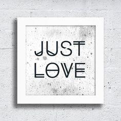 Quadro Just love - Encadreé Posters