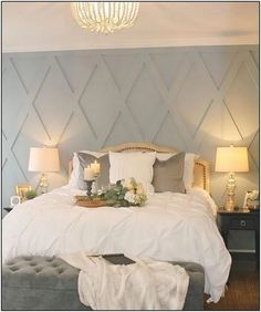 28 Popular Small Master Bedroom Makeover Ideas « inspiredesign You are in the right place about apartment ideas luxury Here we offer you the most beautiful pictur Girls Bedroom, Small Master Bedroom, Master Bedroom Makeover, Master Bedroom Design, Dream Bedroom, Home Bedroom, Bedroom Decor, Trendy Bedroom, Master Bedrooms