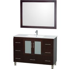 You'll love the Katy 48 Single Bathroom Vanity Set with Mirror at Wayfair - Great Deals on all Furniture products with Free Shipping on most stuff, even the big stuff.