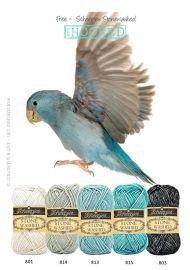Free - Prachtige tinten blauw en grijs, voor een mooi plaid bijvoorbeeld. Stonewashed garen van Scheepjeswol is een prachtig gekleurd garen van katoen en acryl.
